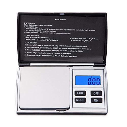 Mini báscula digital de precisión de bolsillo 0.01g para oro, plata esterlina, balanzas de joyería, balanzas electrónicas de gramo de equilibrio