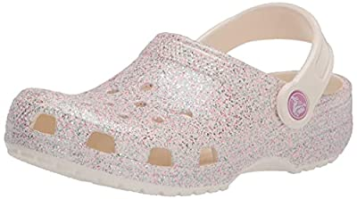 Crocs Kids' Classic Glitter Clog , Oyster, 6 Toddler from Crocs
