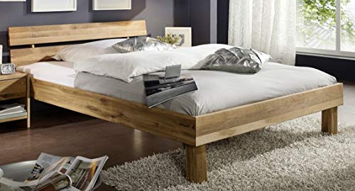 Main Möbel Doppelbett Lewis 180x200cm Wildeiche massiv