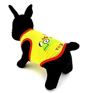 Zunea brodée Lizard Autocollant Chien en maille d'été Gilet pour homme Respirant Tank t-shirts pour animal domestique Vêtements Petit Chien Puppy Cat Vêtements