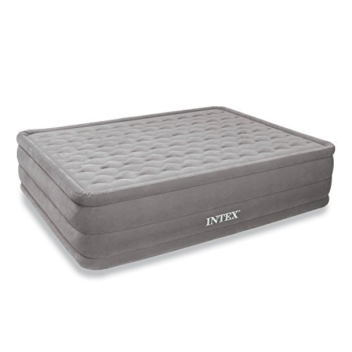 Intex Ultra Plush Airbed with Built-in Electric Pump, Queen, Bed Height 18'