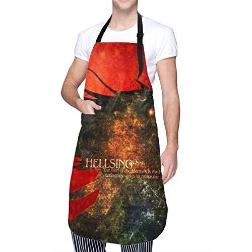 Hellsing-Hellsing Ultimate-Alucard Delantal de Cocina con Bolsillo para Hombre Mujer