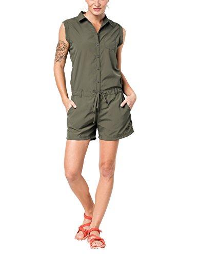 Jack Wolfskin Damen Kalahari Jumpsuit Overall, X-Large, Woodland Green