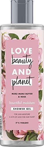 Love Beauty And Planet Bountiful Moisture Duschgel, für trockene Haut Murumuru Butter & Rose ohne Parabene, 1 Stück (400 ml)