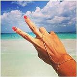 Olbye Finger Ring Bracelet Gold Hand Bracelet Chain Jewelry for Women and Teen Girls Best Friends Gifts