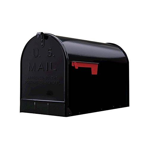 Black, Gibraltar Extra-Large Steel Post-Mount Mailbox - New (Black-1)