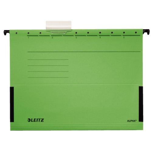 Leitz 19863055 Hängetasche Alpha , seitlich mit Fröschen, Colorspankarton, 5 Stück, grün