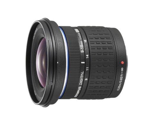 Olympus Zuiko Digital - Wide-angle zoom lens - 9 mm - 18 mm - f/4.0-5.6 ED - Four Thirds - for Olympus E-3, E-30, E-410, E-420, E-450, E-520, E-600, E-620, EVOLT E-410, E-420, E-520
