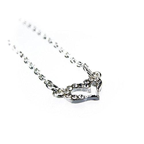 Kobert-Goods Kette S29 mit dezentem Herz Anhänger in Silber, Modeschmuck, Halskette, Damen, günstig, Vintage