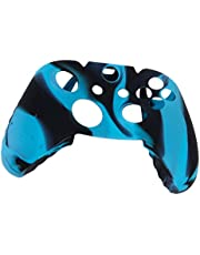 Camo Suave Cubierta De La Caja Protectora De La Piel De Silicona Para Xbox One Dispositivo De Juego - Azul Con Negro