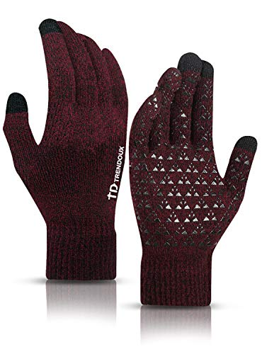 TRENDOUX Womens Gloves, Winter Glove for Men - Touch Screen Fingers - Non-Slip Grip - Thermal Liner - Elastic Cuff - Stretchy Material - Hands Warm in...