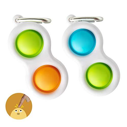 LEEWENYAN Juguete del Llavero de la Persona Agitada Juguetes Sensoriales para Niños y Adultos, El Alivio del Estrés Mini Juguete de Mano Barato de Burbujas de Silicona Llavero Burbuja (Estilo