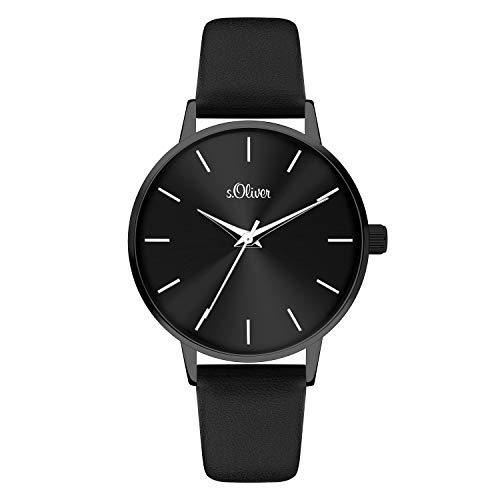 s.Oliver Damen Analog quarz Armbanduhr mit Kunstleder SO-4107-LQ