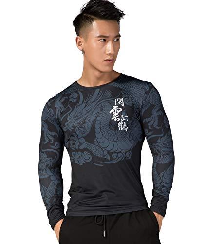 Cody Lundin Camisa de compresión para Hombre Camiseta con Estampado 3D Camiseta de compresión de Gimnasia Top de Manga Larga para Hombre (Style b, XL)