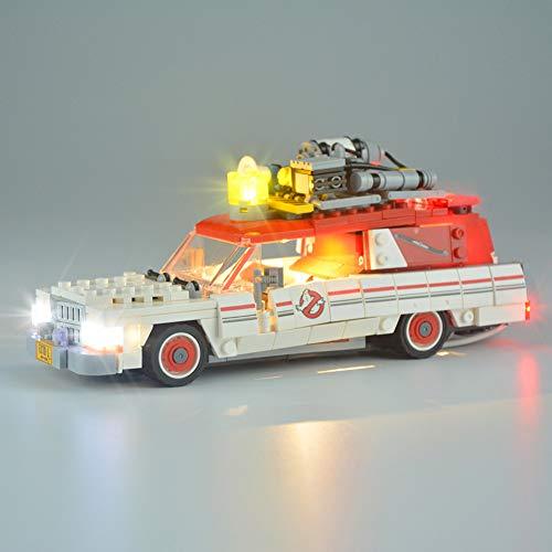 Nlne Juego De Luces para El Modelo De Bloques De Construcción (Cazafantasmas Ecto-1 Y 2) - Kit De Luces LED Compatible para Lego 75828 (NO Incluido El Modelo)