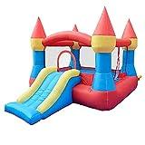 SVUZU Castillo Inflable con Flujo de Aire, Rebote elástico, Centro de Actividades de Princesa, Tela Oxford Gruesa Resistente al Desgaste 420D, casa para niños al Aire Libre