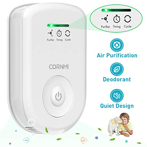 Air Purifiers Plug In for Home, Mini Odor Eliminator丨Ozone Negative Ion Dual Function丨Ionizer to Remove Smoke Pet Toilet Smell, Portable Deodorizer Freshener Cleaner for House Bedroom Bathroom Kitchen