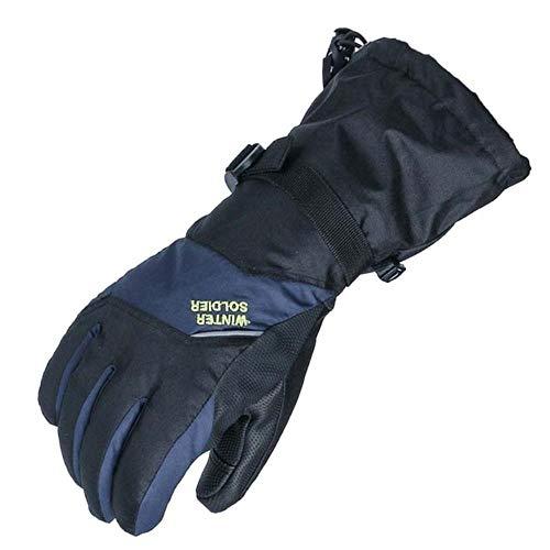 Touchscreen Ski Snowboard Handschuhe für Damen und Herren Wasserdicht Winter Warm Outdoor Wind und Schnee Handschuhe Gr. M, schwarzblau