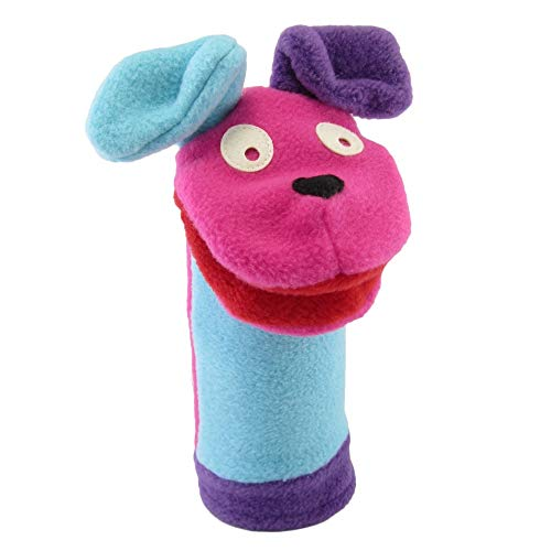 Cate & Levi Sock Hand Puppets for Kids - Made in Canada - Eco Friendly Polar Fleece - with Movable Mouth (Pretty Dog)