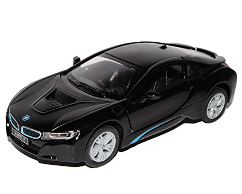 BMW I8 Coupe Schwarz Ab 2013 ca 1/43 1/36-1/46 Kinsmart Modell Auto mit individiuellem Wunschkennzeichen