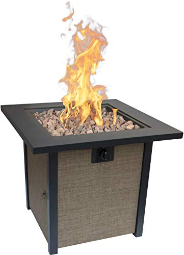 Bond Manufacturing 51846 28in Woodleaf Fire Pit, Black/Tan