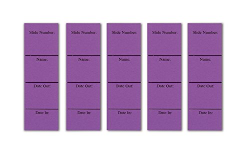 In/Out Cards for Microscope Slide Box - Purple