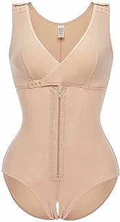 ملابس داخلية للنساء بتصميم ملابس داخلية على شكل الجسم Fajas Colombianas Body Shaper سحاب مفتوح الصدر (اللون: أسود، المقاس:...