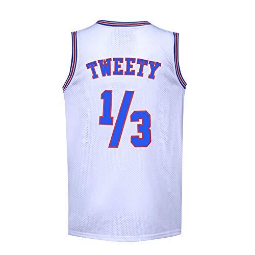 Herren Basketball-Trikot 1/3 Tweety Space Jam Jersey weiß 90S Shirts - Weiß - Klein