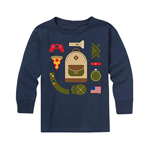 Boy Scouts of America Camper Backpack Boy Scout - Kaos Remaja Lengan Panjang Angkatan Laut