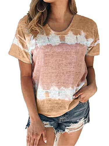 Frühling und Sommer neues lässiges kurzärmeliges Rundhals-T-Shirt mit Lockerem Rundhalsausschnitt