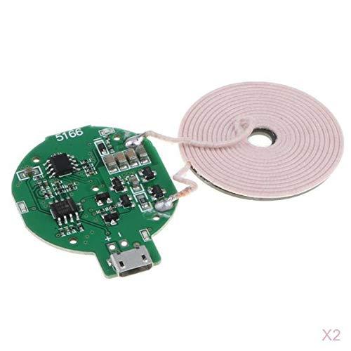 Shiwaki 2X DIY Wireless Charger PCBA Platine Spulen Ladestation Für Smartphone