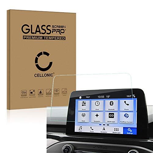 CELLONIC® Panzerglasfolie kompatibel mit Ford SYNC 3 - (Focus, Fiesta, Ka Plus, Kuga, Transit Custom) (2.5D 9H 0.33mm Full Glue) Glas Transparent Displayschutz Schutzglas Tempered Glass