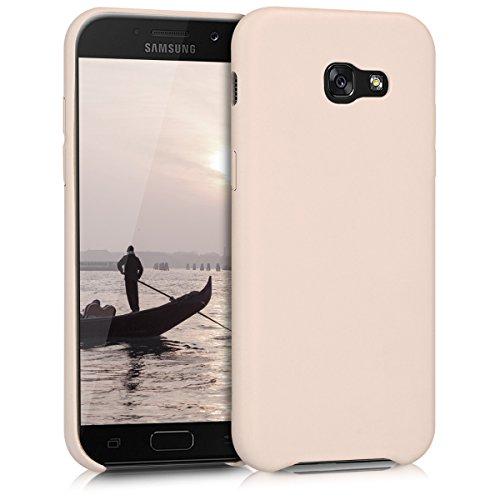 kwmobile Funda Compatible con Samsung Galaxy A5 (2017) - Carcasa de Cuero sintético para móvil - Cover en Beige