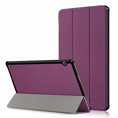 Boleyi Tablet Hülle für Huawei MediaPad M5 lite, Slim Schutzhülle Hochwertiges PU Schlank Leder Hülle, mit Ständer Funktion, für Huawei MediaPad M5 lite Zoll Modell,Lila