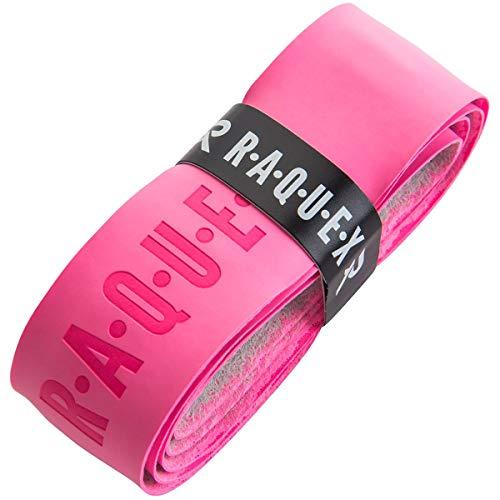 Raquex Ersatz-Griffband, aus Polyurethan, Schlägergriffband für Tennis, Squash oder Badminton (Rose, 1 Griffband)