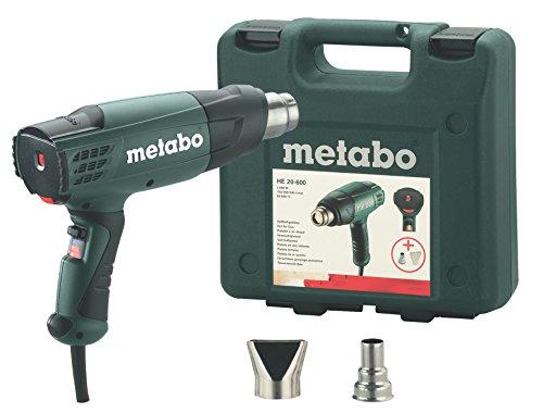 Metabo Heißluftgebläse HE 20-600 (602060500) Kunststoffkoffer, Luftmenge: 150 / 300 / 500 l/min, Anzahl Luftmengenstufen: 3 , Lufttemperatur: 50 - 600 °C