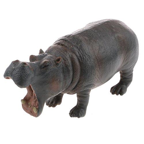 F Fityle Figuras de Acción Modelo de Estatuilla de Animal Salvaje de Hipopótamo Realista Juguete para Niños