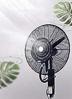 工業扇風機 垂直振動 大型冷風扇 ペデスタルファン ミストファン 床置 首振り業務用スプレー扇 店舗商業住宅用 プーリー/ウォータータンクを備えた移動式, 適用スペース 工場、大型店、レストラン、屋内 (43L)