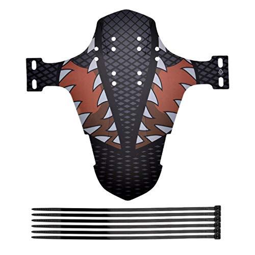 Guardabarros de Bicicleta Horquilla Delantera Ultrafina Escudo de Lluvia Simple para Bicicleta de montaña (B)