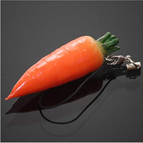 GFHDGTH Mini Leuke Fruit Sleutelhanger, 1 PC Simulatie Fruit Cell Telefoon Bedel Tas Sleutelhanger Decor carrot