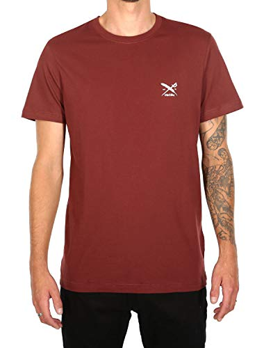 IRIEDAILY Chestflag Tee męski T-shirt, ciemny rum, M
