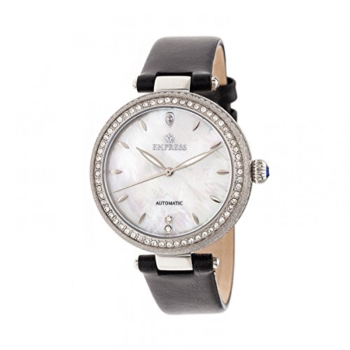 Empress Louise Mother-Of-Pearl - Reloj de pulsera (piel), color plateado