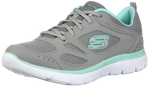 Skechers Summit - Suited Grey/Turquoise 9