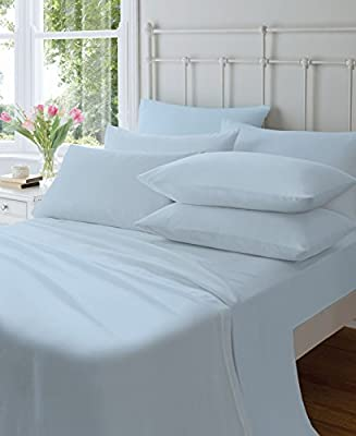Catherine Lansfield Home Plain Dyed 145gsm 100% Brushed Cotton Flannelette Housewife Pillow Cases, Blue, Pair from