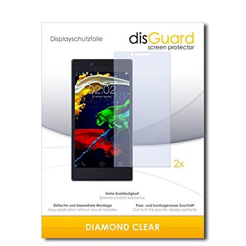 disGuard 2 x Bildschirmschutzfolie Lenovo P70 Schutzfolie Folie DiamondClear unsichtbar