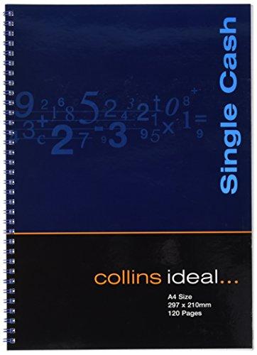 Collins Ideal Wiro - Cuaderno de anillas para contabilidad (tamaño A4, 120 páginas, hojas blancas)