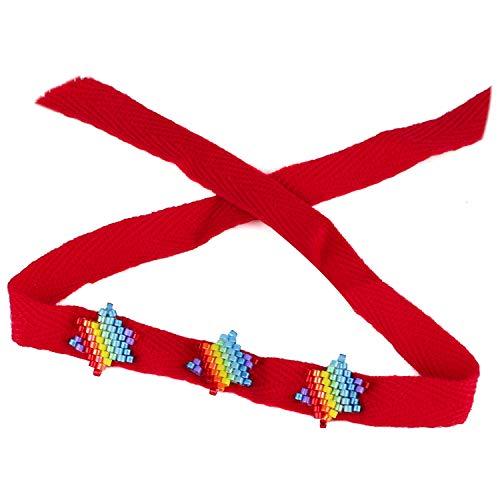 KELITCH Bracelets D'amitié Bracelets De Brins De Perles De Corde Multi Couleur Femme Joncs Bohèmes Tissés À La Main
