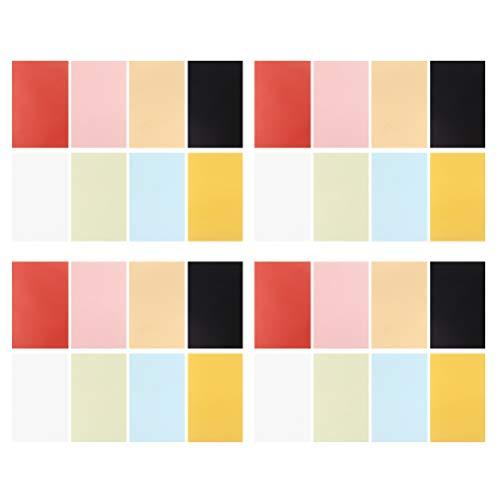 EXCEART 100 Piezas de Papel Vitela de Colores Papel Vitela Transparente Papel de Calco Translúcido...