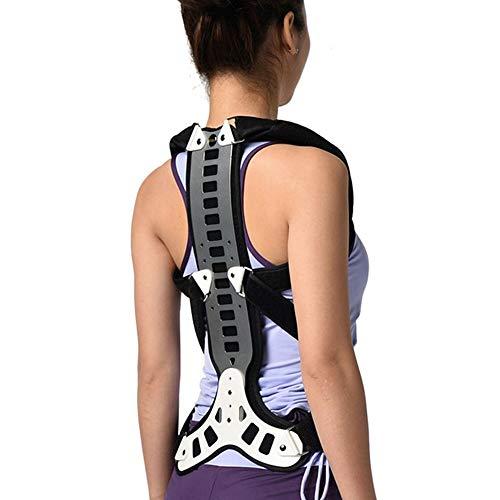 NOBLJX Corrector de Postura Tipo Mochila, Plancha de sujeción, Placa de Soporte de aleación, Correa Ajustable Transpirable, Desmontable en General, para Mejorar la cifosis de Espalda Recta ⭐