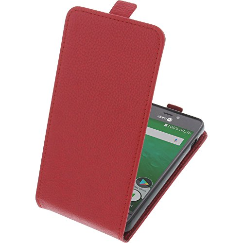 foto-kontor Tasche für Doro 8035 Smartphone Flipstyle Schutz Hülle rot